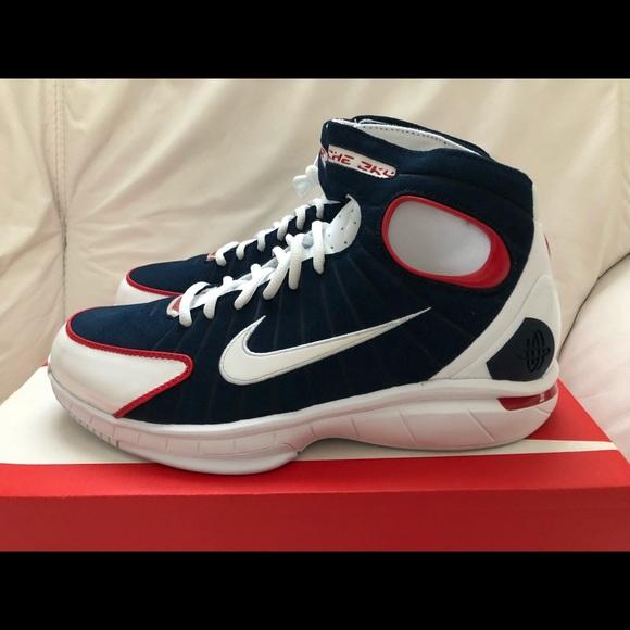 0c182c48e856 Nike Huarache 2K4 Navy Red White Men s SZ 10 New